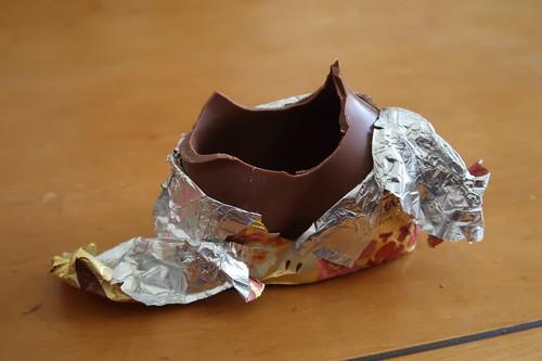 Schokoladenosterhase (angegessen)