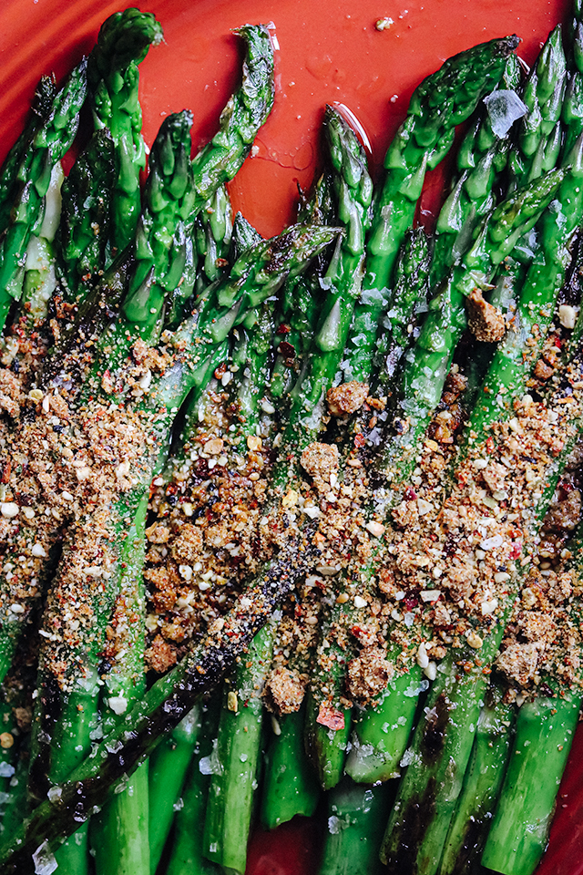 Blistered Asparagus with Gunpowder Masala