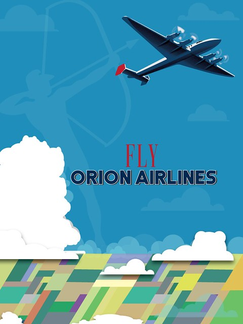 Orion Airways Vintage Style Poster