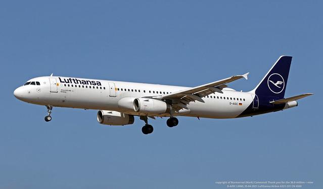 D-AIDC LMML 25-04-2021 Lufthansa Airbus A321-231 CN 4560