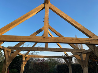 Completed frame - trusses