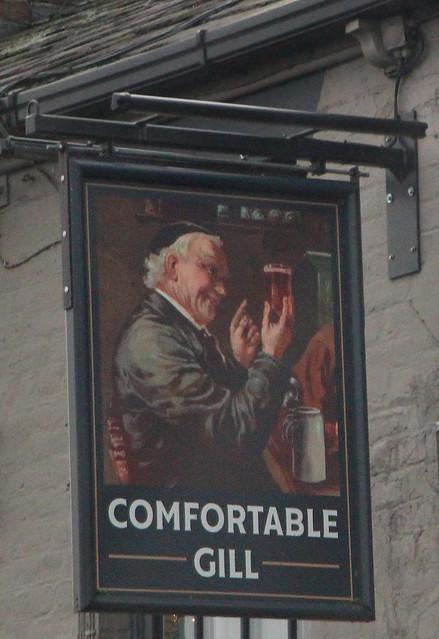 English Pub Sign -Comfortable Gill