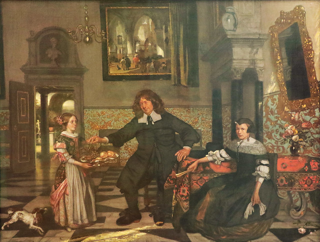 Emanuel de Witte (Alkmaar, 1617/1618 – Amsterdam, 1692) - ritratto di famiglia (1678) olio su tela 68,5 x 86,5 cm - Alte Pinakothek Monaco di Baviera