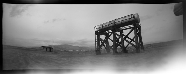 water tank pinhole. mojave desert, ca. 2005.