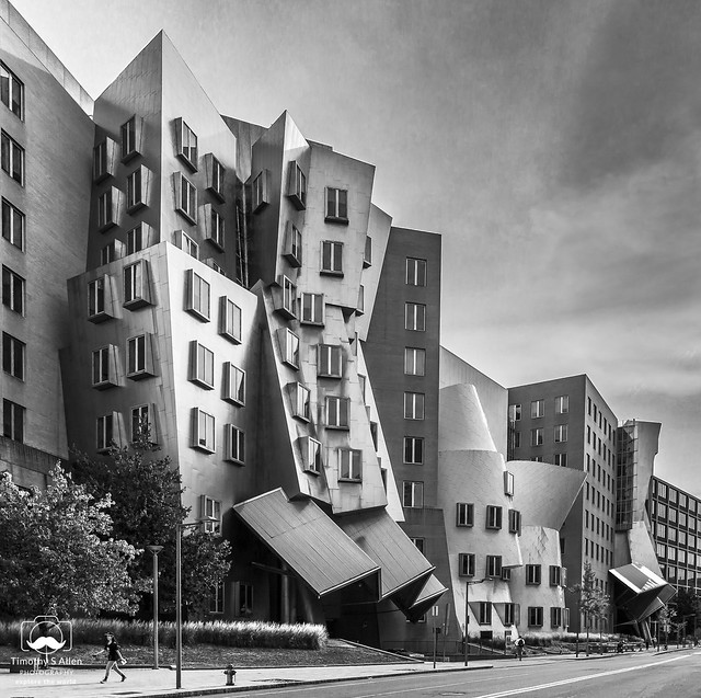 A B&W Interpretation of Frank Gehry's Stata Center at MIT