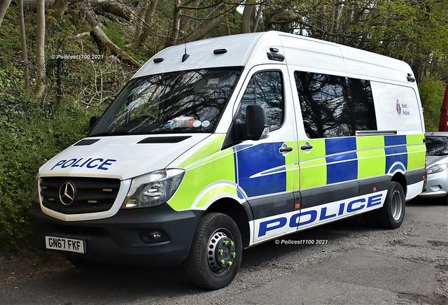 Kent Police Mercedes Sprinter Van GN67 FKF