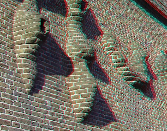 Brick-facade by HENRY MOORE Weena Rotterdam 3D