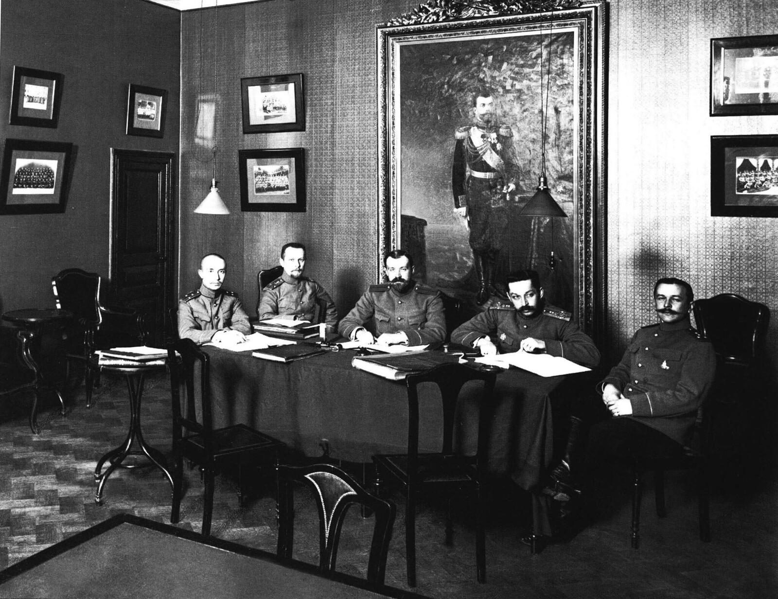 1913. Офицерский суд чести лейб-гвардии 1-й артелерийской бригады