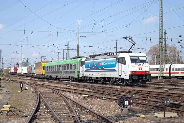 AKIEM 186 904 Basel Badischer Bahnhof