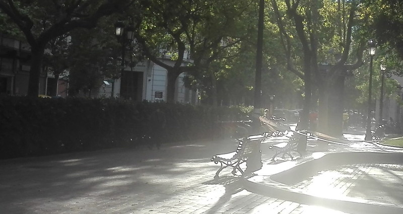 La plaza del Covid