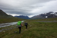 Almost at Skárjá. If you look close you can see a couple of small structures almost in the middle of the picture.