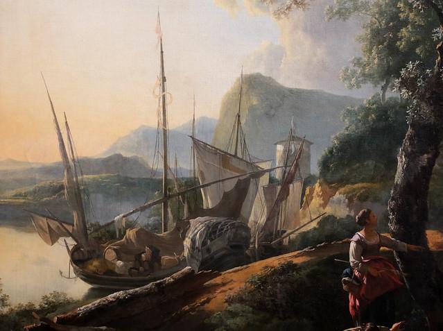 Adam Pynacker (Schiedam o Pynacker presso Delft, 23 gennaio 1620 circa – Amsterdam, 28 marzo 1673) - Paesaggio con ponte crollato (1659) olio su tela 113 x 162 cm - Alte Pinakothek Monaco di Baviera