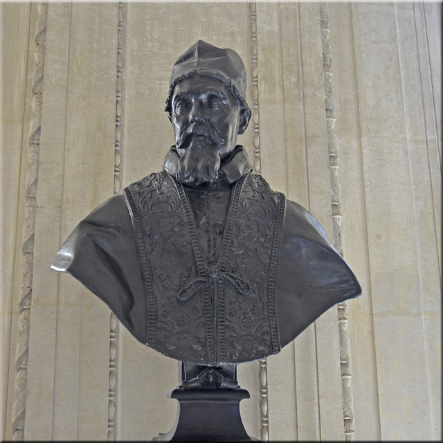 2020.08.06.163 PARIS - Musée du LOUVRE - Galerie Michel Ange - Le pape Urbain VIII par Le Bernin (vers 1640)
