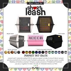 .:Short Leash:. Perfect Pet Crate