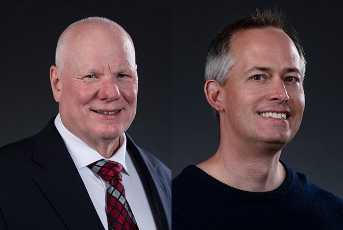 James Wendelberger (left) and Earl Lawrence