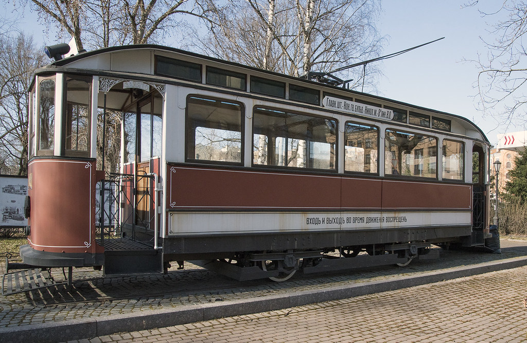 Replica of first Saint-Petersburg tram