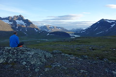 Enjoying the evening scenery nearby one of our camp sites in Sarek.