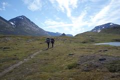 Heading for Skárjá via a reindeer watchers cabin.