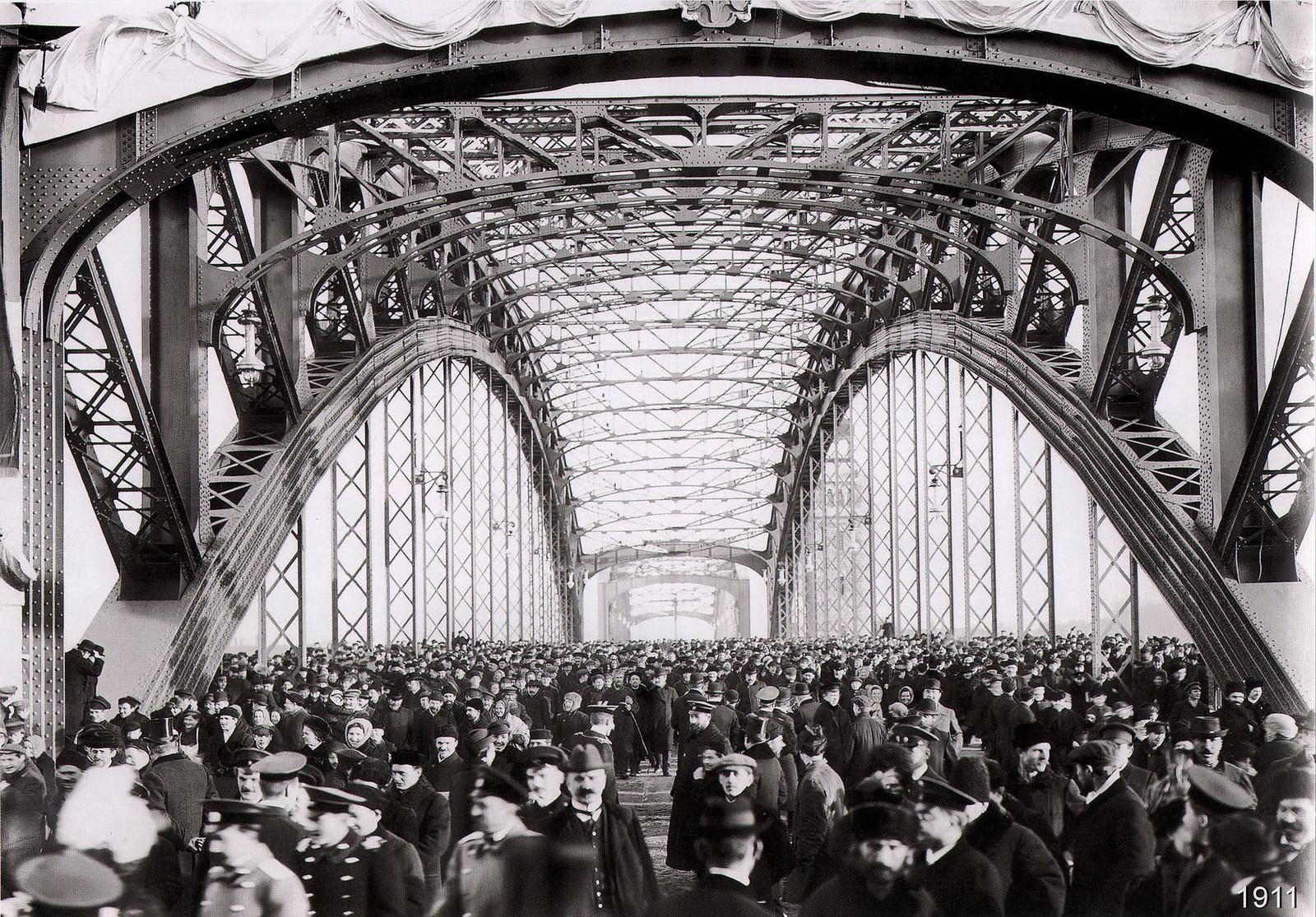 1911. Открытие моста Петра Великого