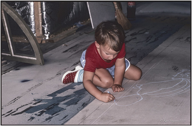 Severin the little artist_1985_Leica R4