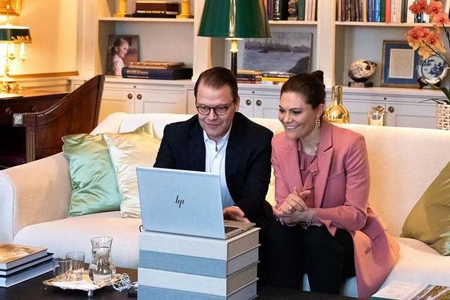 Digitale ontmoeting van Kroonprins Frederik en Kroonprinses Mary van Denemarken, Kroonprins Haakon en Kroonprinses Mette-Marit van Noorwegen en Kroonprinses Victoria en Prins Daniel van Zweden (2021)