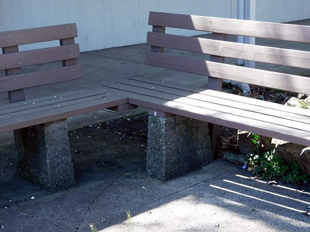 Rather Plain *L Shaped Bench Makes for an *L of Place to Sit