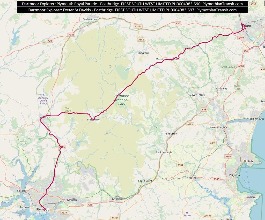 MAP Route-Dartmoor Explorer