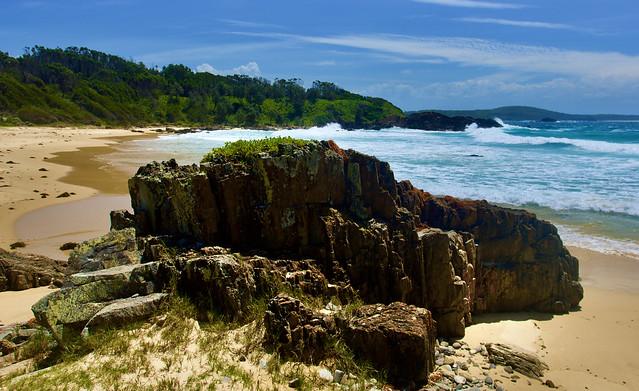 Small beach stack