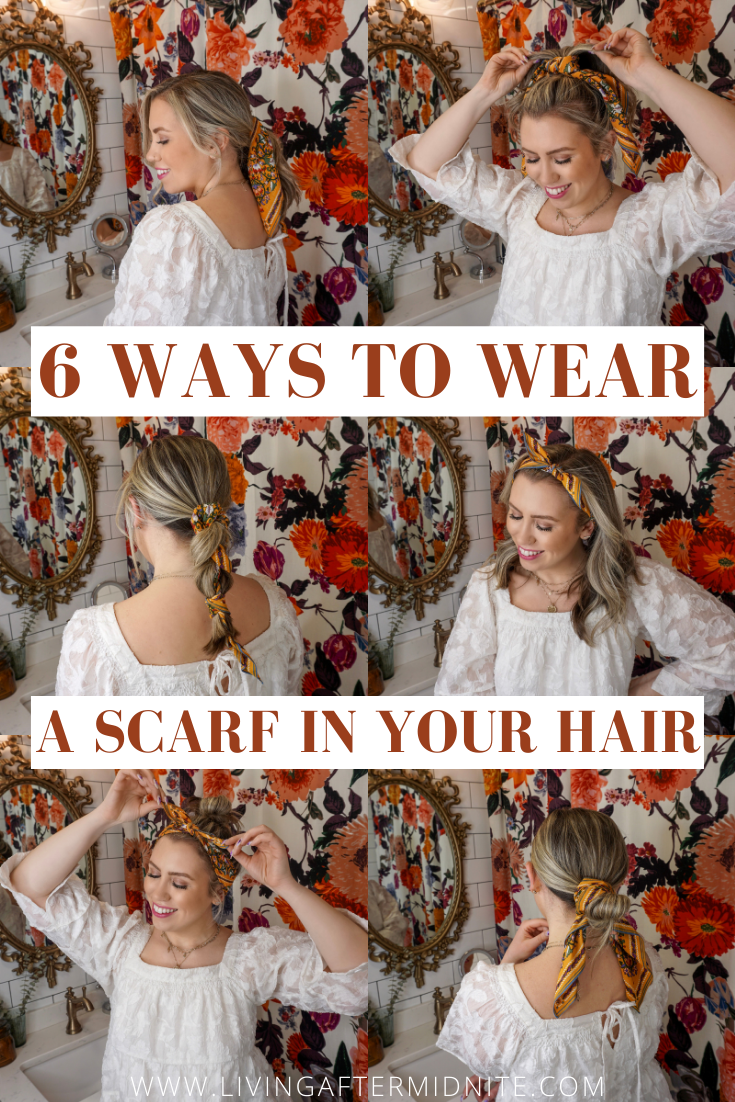6 Ways to Wear a Scarf in Your Hair | How to Wear a Scarf in Your Hair | Hair Tutorial | Summer Hair Tutorials | Hair Tutorial Videos