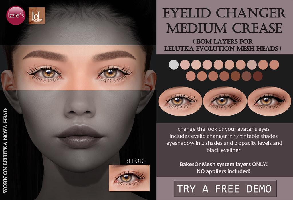 Eyelid Changer Medium Crease (LeLutka Evolution BOM)