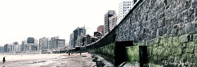 El muro de San Lorenzo-Gijón