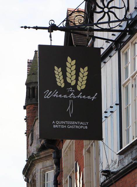 English Pub Sign - The Wheatsheaf - Cheshire