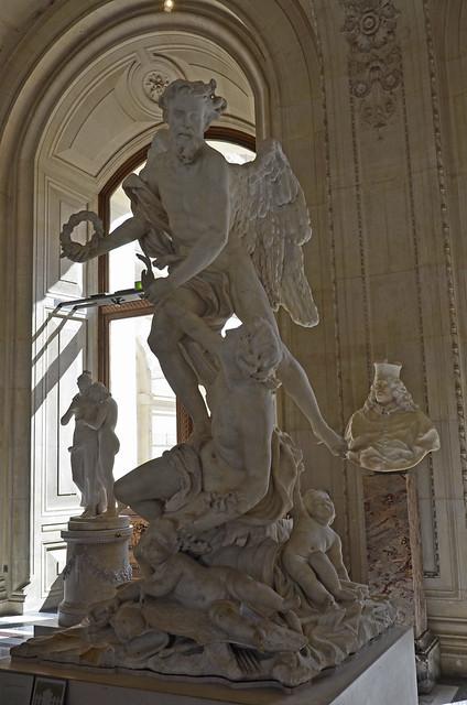 2020.08.06.164 PARIS - Musée du LOUVRE - Le temps enlevant la Vertu et les Arts par Honoré Pellé (avant 1699)