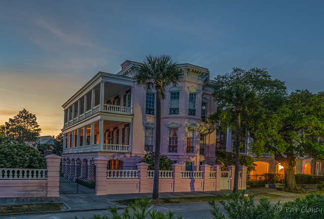 Private Home  on East Bay Street Blue Hour