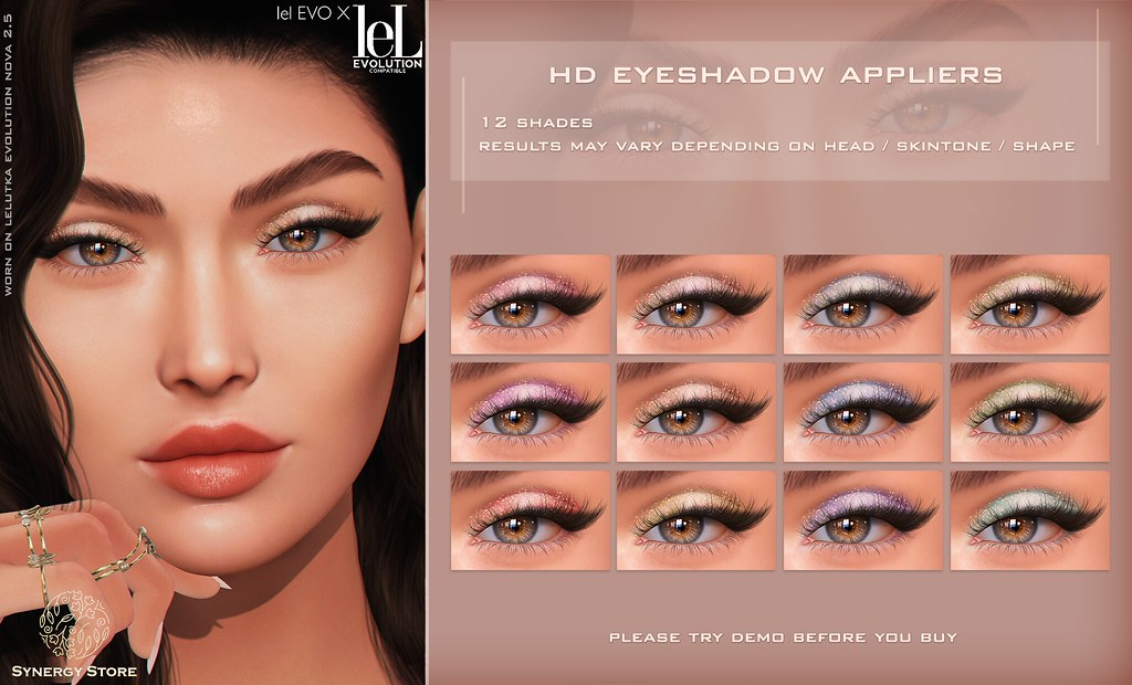 Synergy – Lelutka HD Eyeshadow Applier for EVO/EVO X heads – Dubai♥