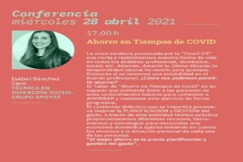 Cartel promocional de la ponencia de Isabel Sánchez Caro en las 18ª Jornadas Familia y Comunidad de Agüimes