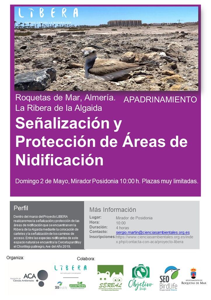 Vuelve el Proyecto Libera para proteger la nidificación del Chorlitejo patinegro
