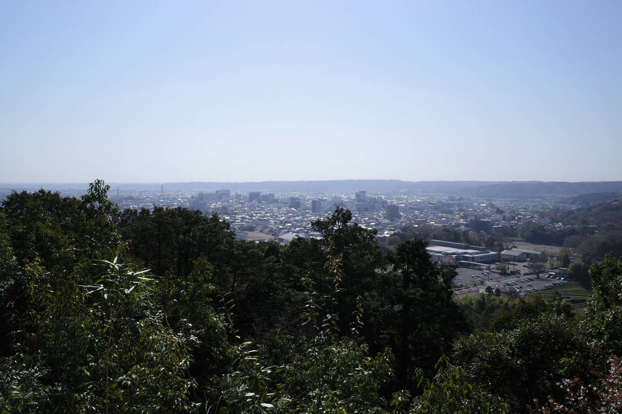 天覧山からの東京方面の展望
