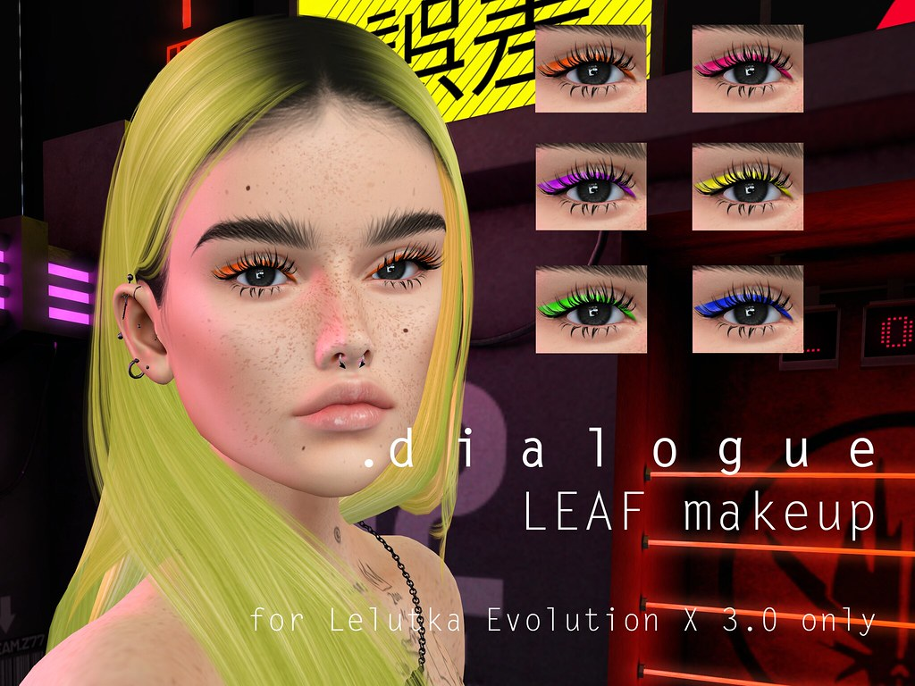 .dialogue Leaf neon makeup for Lelutka EvoX