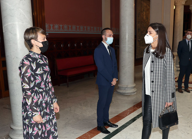Primera reunión de la reina con FundéuRAE