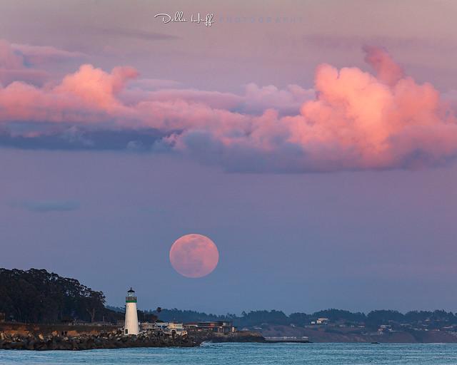 Super Pink Moon over Santa Cruz