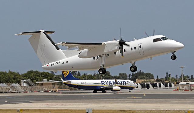 9H-CTG LMML 26-04-2021 Medavia Bombardier Dash 8-102 CN 222