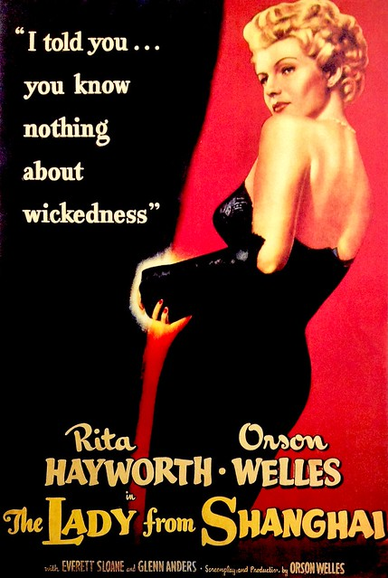 Rita Hayworth in 'The Lady From Shanghai' - movie poster - 1947