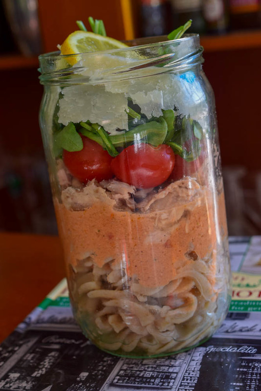 Salade en bocal (salad jar italienne) 1