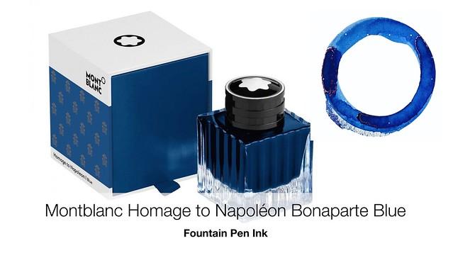 Montblanc Homage to Napoléon Bonaparte Blue Fountain Pen Ink