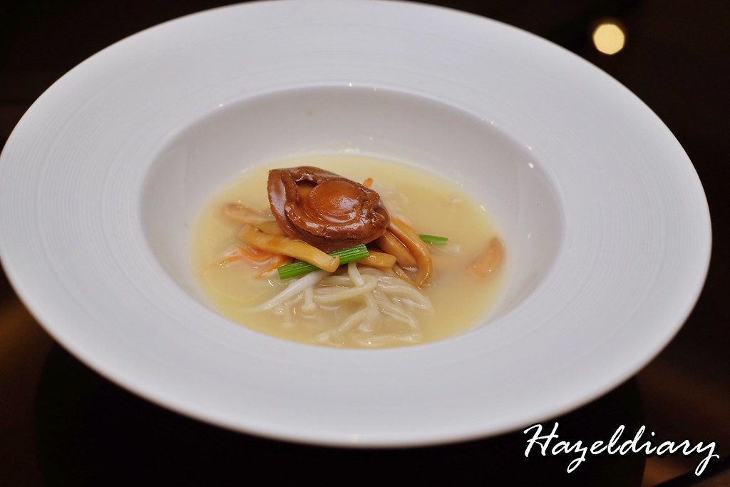 Jiang Nan Chun-Four Seasons- Handmade Noodles with Baby Abalone and Vegetables