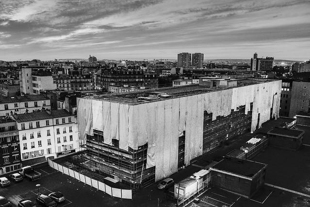 Navire fantôme... Immeuble en démolition, Paris 18.