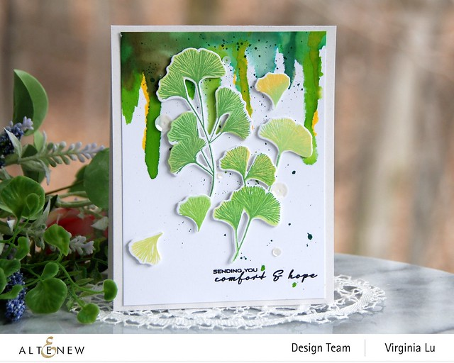 Altenew-Sweet Ginkgo Stamp Set- Sweet Ginkgo Die Set