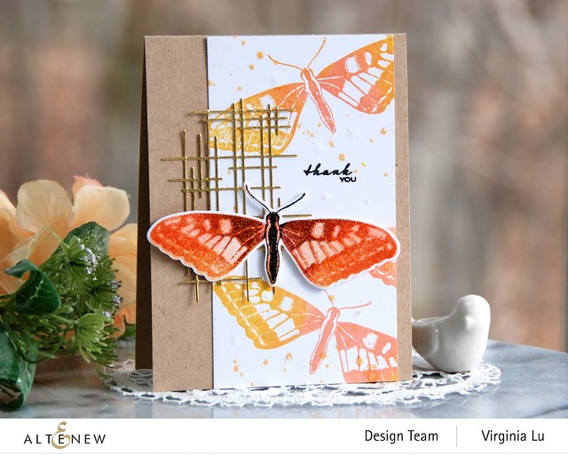 Altenew-Dovetail Butterflies Stamp & Die Bundle-Linear Crossroads Die