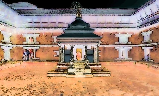 Nepal - Patan - Durbar Square - 97bb